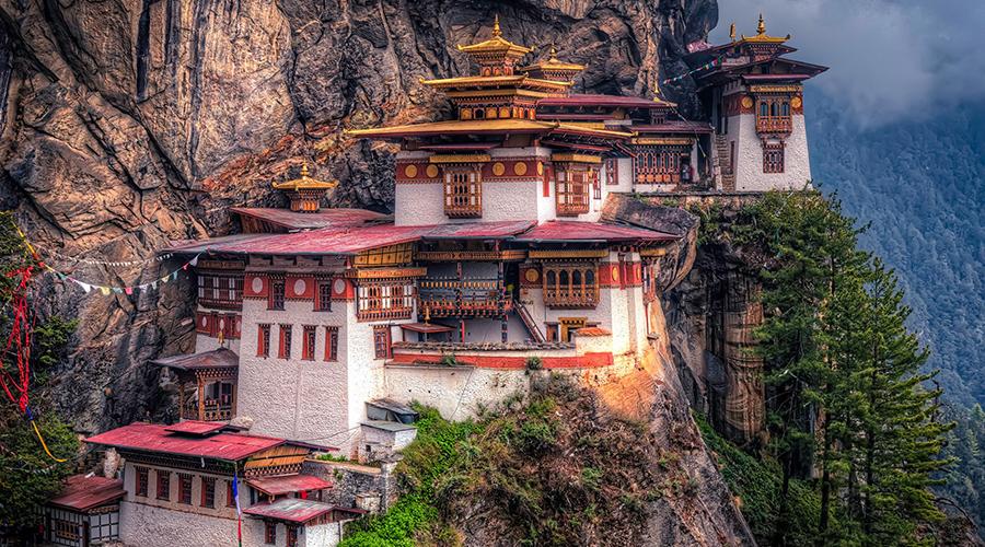 Taktsang-klooster, ook bekend als het Tigers Nest, Bhutan