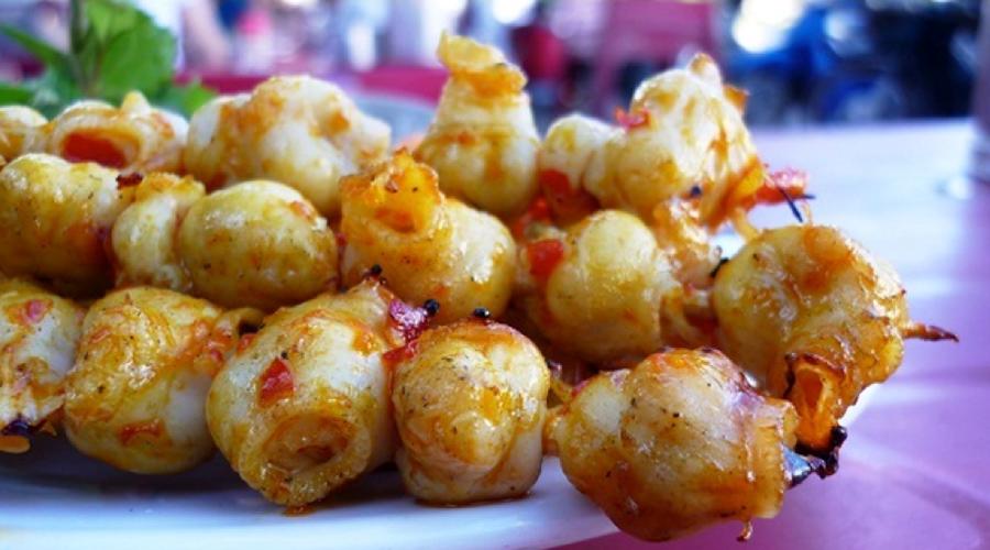 Dents de calamars grillés au Vietnam